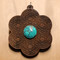 Walnut with 12mm Turquoise