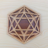 'Dimensional Icosahedron' Four Layer Wall Art