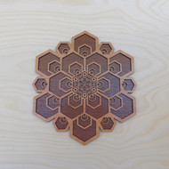'Hex Flower' Two Layer Wall Art