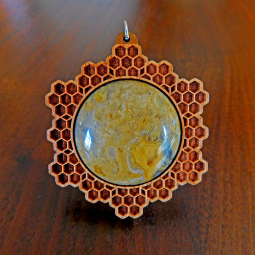Cherry Hardwood with Crazy Lace Agate