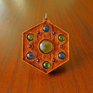Vibrational Seed Gemstone Talisman - Citrine with Peridot and Iolite