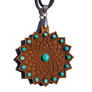 'Square Flower' Gemstone Talisman with Turquoise