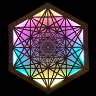 Metatron's Tesseract LED Wall Art