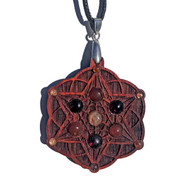 'Starseed' Gemstone Grid Talisman with Sunstone and Carnelian
