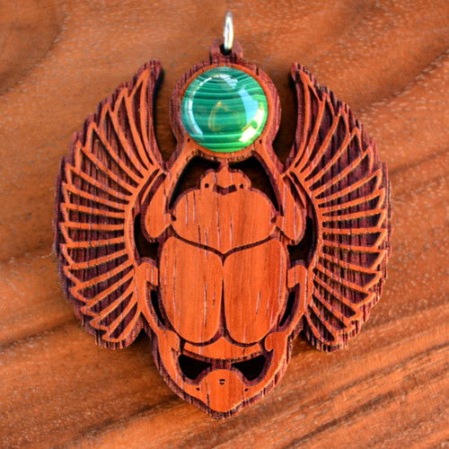 Padauk with Malachite