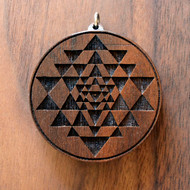Sri Yantra in Walnut Hardwood
