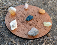 Sacred Geometry Trifecta Crystal Charging Grid