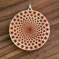 Flower Vortex in Cherry wood