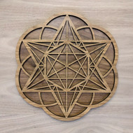 Star Tetrahedron Hexagon Seed of Life Two Layer Wall Art