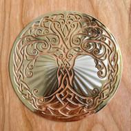 "Tree of Life - 18 karat Gold Plated Crystal Grid - 4"""