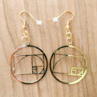 Fibonacci Spiral Earrings - 18 Karat Gold Plated