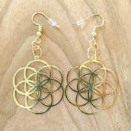 Seed Of Life Earrings - 18 Karat Gold Plated