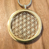 Flower of Life Pendant - 18 Karat Gold-Plated Necklace
