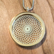 Tube Torus Pendant - 18 Karat Gold-Plated Necklace