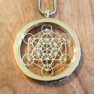 Metatron's Cube Pendant - 18 Karat Gold-Plated Necklace