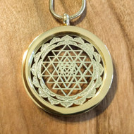 Sri Yantra Pendant - 18 Karat Gold Plated Necklace