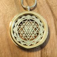 Sri Yantra Pendant - 18 Karat Gold Plated Necklace