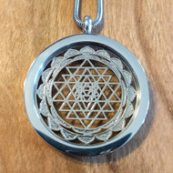Sri Yantra Pendant - Silver Plated Necklace