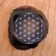 Flower of Life - Laser Engraved Agate