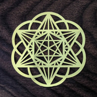 Starseed - 18 Karat Gold Plated Crystal Grid - 2.8""