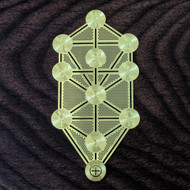 Tree of Life Kabbalah - 18 Karat Gold Plated Crystal Grid - 2.8""