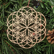 Seed-Flower 2' Ornament - Sacred Geometry - Laser Cut Wood