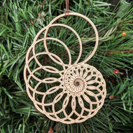 Nautilus Ornament - Sacred Geometry - Laser Cut Wood