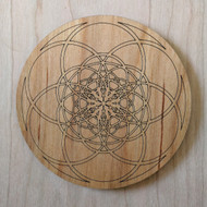 Fibonacci Seed of Life Drink Coasters - Set of 4