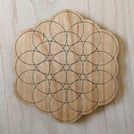 Petals of Life Drink Coasters - Set of 4
