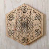 Seed of Life Matrix Drink Coasters - Set of 4