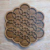 Flower of Love in Cherry on Walnut