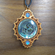 Abalone with Rainbow Moonstone