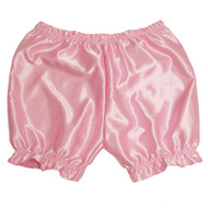 Our pink satin bloomer shorts.