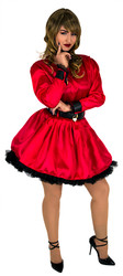 Dress up your slave and lock them in their frills!