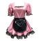 Our new pink PVC looks amazing with black contrast trim, but with white trim the look is all Sissy!