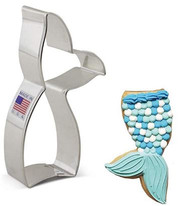 """COOKIE CUTTER MERMAID TAIL/  WHALE 4.25"""""""