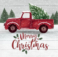 BEV NAPKINS FARMHOUSE CHRISTMAS 16 CT