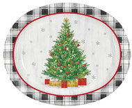 PLATTERS OVAL HOLIDAY TREE PLATE 8 CT