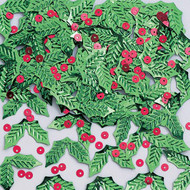 CONFETTI HOLLY AND BERRIES 0.5 OZ