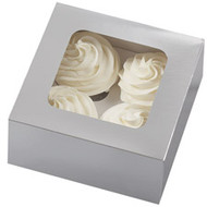 Medium Silver Treat Boxes Wilton