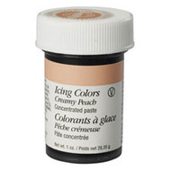 Creamy Peach Icing Color 1oz. Jar Wilton