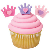 Crowns with Hearts Royal Icing Decorations 12ct. Wilton