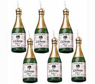Champagne Bottles Candles 6ct Wilton