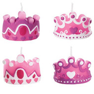 4 pc. Princess Candles Wilton