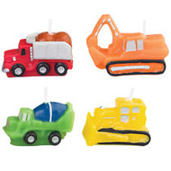 Construction Vehicles Candles 4ct Wilton