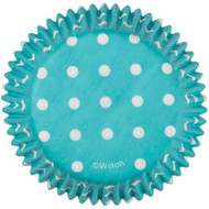 Teal Dots Cupcake Baking Cups 75ct Wilton