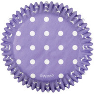 Purple Dots Cupcake Baking Cups 75ct Wilton