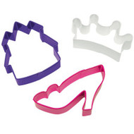 3 pc. Princess Cookie Cutter Set Wilton