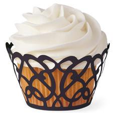 Black Swirls Cupcake Wraps 18ct Wilton