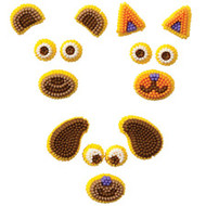 Animals Make-A-Face Icing Decorations Wilton